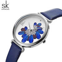 SK watch women leather watches luxury famous brand Fashion montre femme 2019 ladies wristwatch reloj mujer relogio feminino