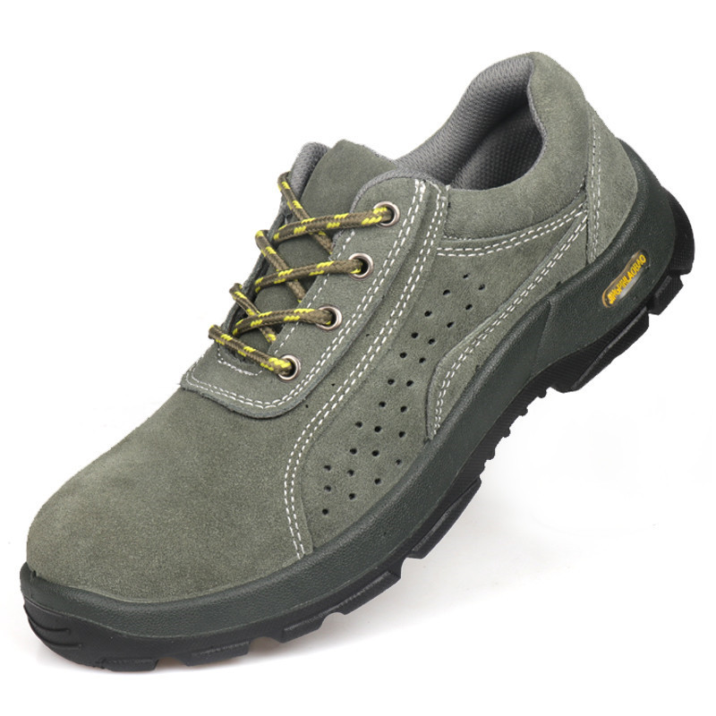 Manufacturers Direct Selling Suede Safety Shoes Smashing Wear-Resistant Puncture-Resistant Oil Resistant Acid-base Men And Women
