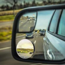 Мини-зеркало заднего вида с углом обзора 360 градусов, 1/2 шт., зеркало для слепых зон, круглое выпуклое зеркало, автомобильный аксессуар для бе...