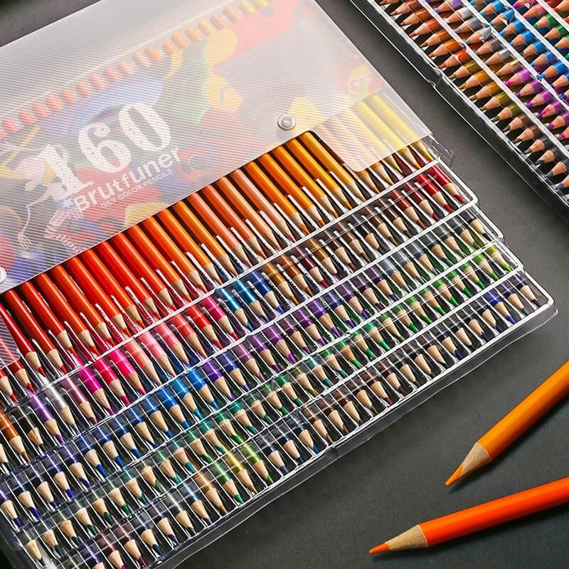 Esboçar pintura a óleo lápis artista cor profissional lápis conjunto 48/160 cores para crianças estudantes desenho escola arte suprimentos