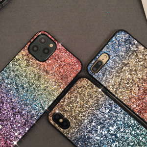 Image 3 - 10pcs/lot Women Luxury Gift Phone Back Case for iphone 6 6s 7 8 Plus 11 Pro Max 11Pro Color Gradual Glitter Hard Case MYL 67K