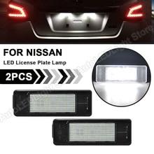 2X dla Nissan Juke NV200 Versa Rogue kopnięć Armada Infiniti Q50 x trail Qashqai tablica rejestracyjna LED światła oświetlenie tablicy rejestracyjnej Canbus