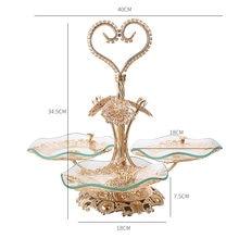 New light luxury style creative family living room hotel tea table crystal fruit plate European fruit plate