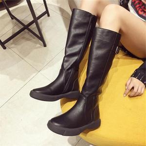 Image 5 - SWYIVY حذاء برقبة للركبة النساء 2019 الشتاء منصة الأحذية مشبك حذاء كاجوال امرأة أسود/براون طويل القامة التمهيد سستة حجم كبير 42
