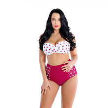 цена на Women's Bikini Set Swimming Suit Plus Size Vintage High Waisted Swimsuit Push Up Polka Dot Bathing Suits Two Piece Swimwear 6XL