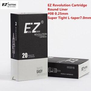 Image 2 - EZ Rivoluzione Del Tatuaggio Aghi Cartuccia Aghi Rotonda Fodere #08 0.25 millimetri per la cartuccia macchina e grips 20 pz/scatola