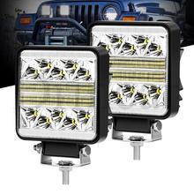 цена на Work Light 102W Car LED  Bar 12v 24v Motorcycle LED High Beam Fog Lights For Offroad Pickup ATV 4x4 4WD SUV Truck Light Bar