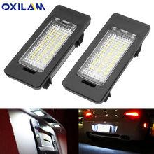 OXILAM 2PCS DC12V LED luce targa lampada per BMW E60 E61 E90 E92 E39 M5 E70 AA 6000K lampada bianca accessori auto