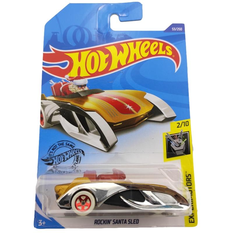 2020-53 Hot Wheels 1:64 Car ROCKIN SANTA SLED Metal Diecast Model Car Kids Toys Gift