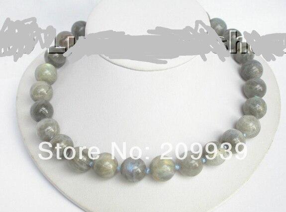 Huij 003466 authentique 100% collier de pierres précieuses labradorite naturelle remise 40%