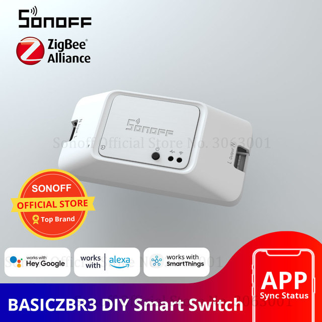 SONOFF BASICZBR3 Zigbee DIY Smart Switch Wireless Remote Control Module Switches Works With Alexa SmartThings Hub For Smart Home 1