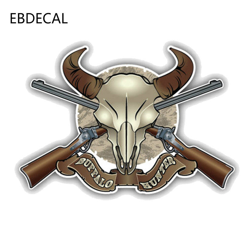 EBdecal Fashion Buffalo Hunter Decal  For Auto Car/Bumper/Window/Wall Decal Sticker Decals DIY Decor CT10766