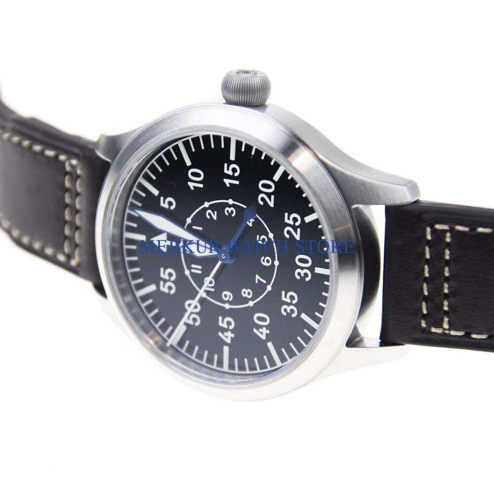 Sapphire Glas Deutsch Stil Fieger Typ A Automatische Pilot Uhr NH35 Emaille Zifferblatt B-UHR Erhitzt BGW9 Leucht Taucher Uhr 300M