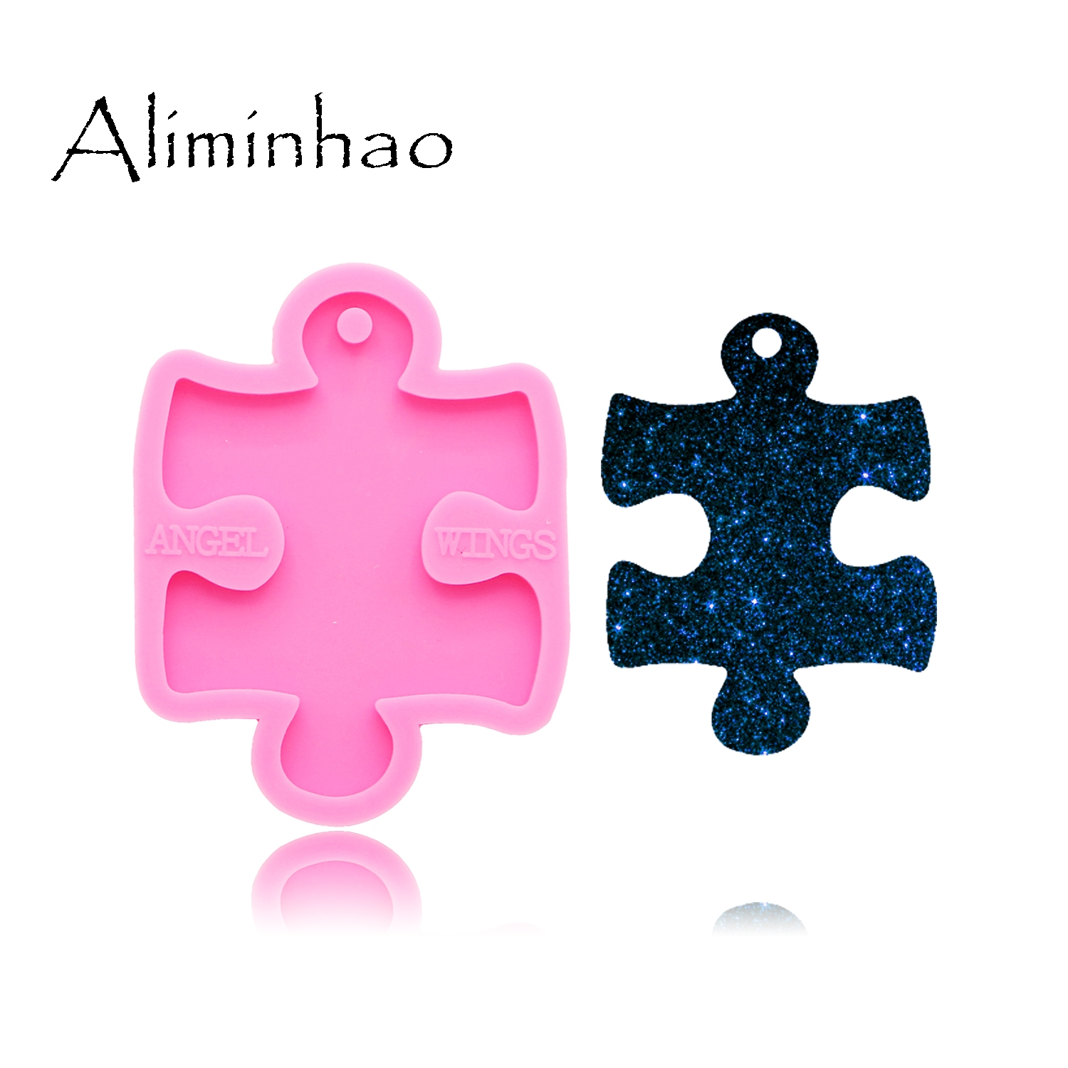 DY0135 Shiny Puzzle Silicone Molds DIY epoxy resin table mould silicon craft custom mold craft keychain|Cake Molds| |  - title=