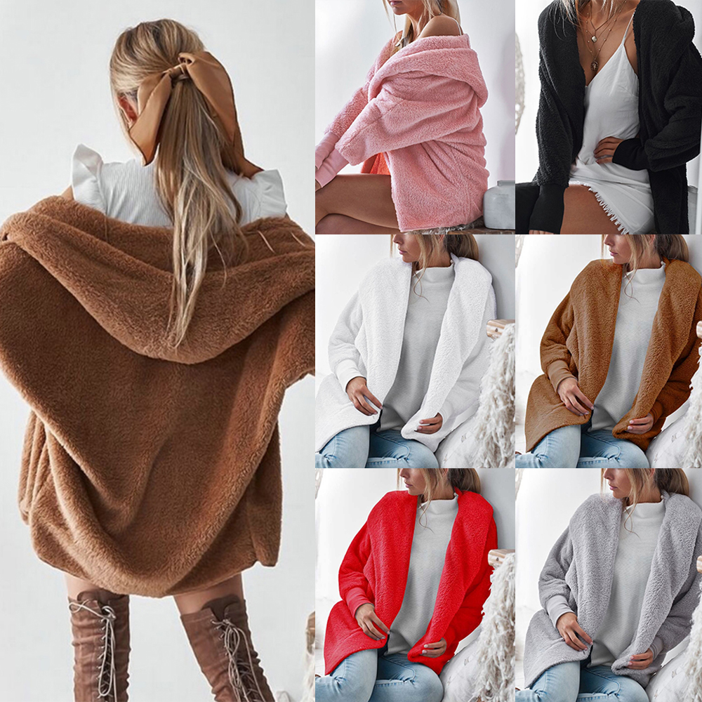 Litthing Hoodie Cardigan Overcoat Plush-Jacket Streetwear Loose Autumn Fashion Women