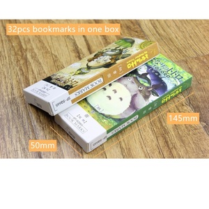 Image 3 - 6 pack/Lot Cartoon Totoro bookmark Anime paper page holder Memo card Stationery office School supplies separador de libros A6392