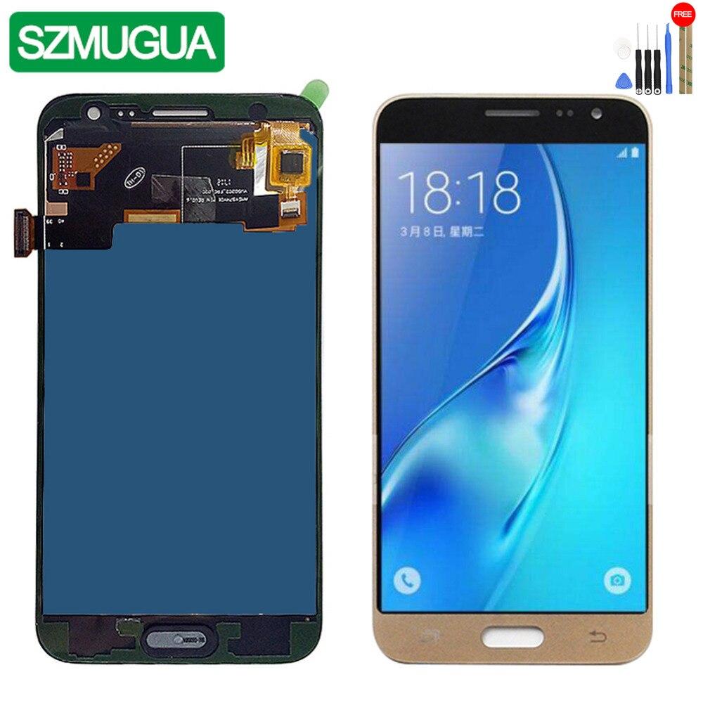 SZMUGUA SM-J320FN/F/M/H/DS Para Samsung Galaxy J3 2016 J320 Display LCD + de Toque tela J320F J320FN J320H J320M Ajuste brighness