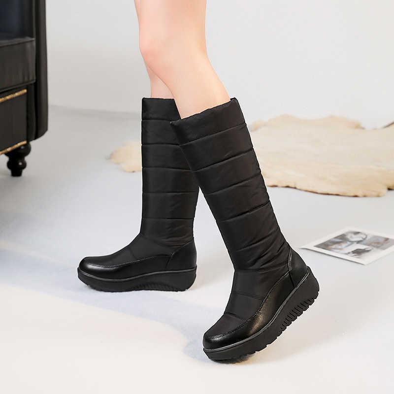 BONJOMARISA gümrükleme satış özlü platformu orta buzağı kar botları kadın kış sıcak kürk çizmeler kış sıcak ayakkabı kadın 35- 44