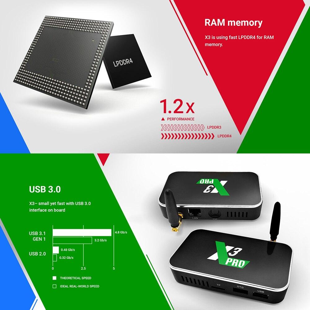 Ugoos X3 Pro TV Box Android 9.0 4GB RAM 32GB X3 Plus 64GB DDR4 - Home audio en video - Foto 4