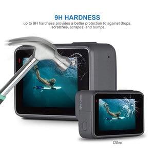 Image 3 - Verre trempé lentille LCD écran de protection pour Go Pro Gopro Hero 5 6 7 Hero5 Hero6 Hero7 caméra lentille capuchon couverture protecteur Film ensemble