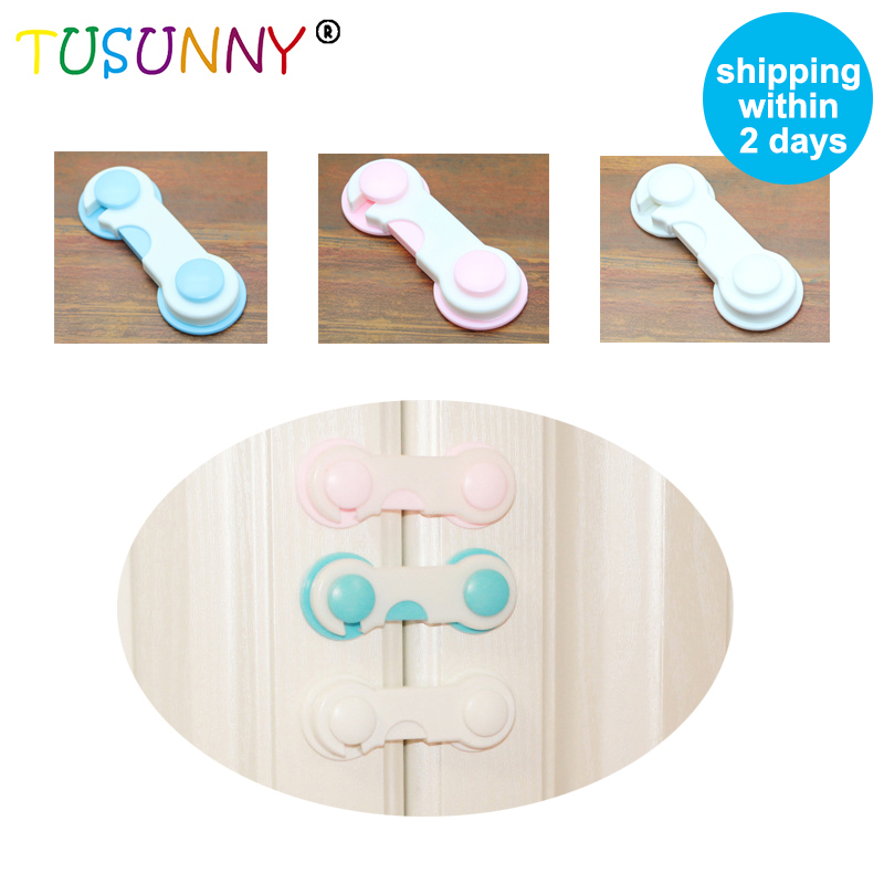 TUSUNNY 5 Pcs/lot Child Safety Locks Infant Baby Anti-pinch Drawer Refrigerator Lock Kids Safety Child Lock On The Cupboard