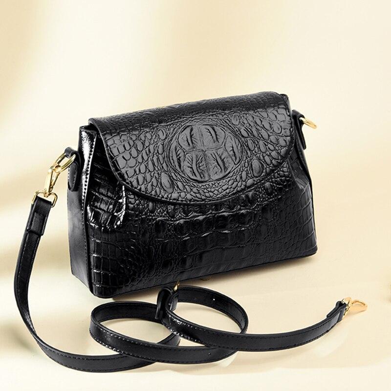 Брендовые женские сумки с крокодиловым узором, высококачественные кожаные сумки через плечо, дизайнерские женские сумки через плечо
