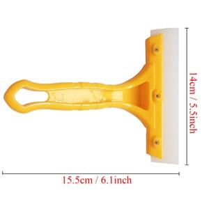 Image 2 - Grattoir multifonction, 2 pièces, lame de séchage deau de vitre de pare brise automatique, essuie glace de nettoyage, outil de lavage de voiture B03