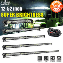 CO LIGHT Super Slim Led Work Light 12V 24V 12-52inch Led Bar Combo Spot Flood for Lada