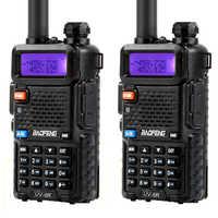 2Pcs Baofeng BF-UV5R Dual Band Two Way Radio Amateur Radio Portable Walkie Talkie Pofung UV-5R 5W VHF/UHF Radio UV 5r CB Radio