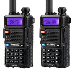 Image 1 - 2Pcs Baofeng BF UV5R Dual Band Two Way Radio Amateur Radio Portable Walkie Talkie Pofung UV 5R 5W VHF/UHF Radio UV 5r CB Radio