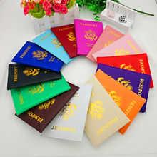 Funda de pasaporte de Estados Unidos para pasaporte, protector de pasaporte americano, color rosa, para tarjetas de crédito y documentos de viaje