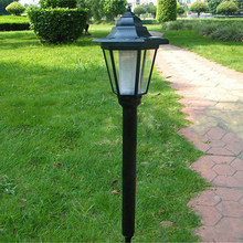 New Solar Power Post Light Outdoor Pathway Fence Deck Lamp Yard Garden Light(China)