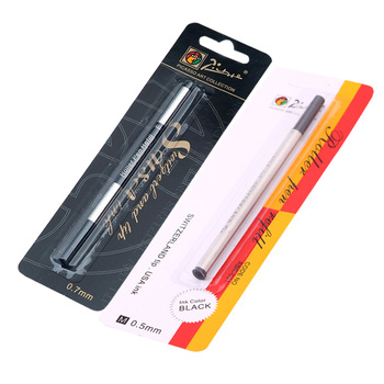 more than gel pen refill writes smoother ball pen refill capacity sufficient tip wear can be applied to most roller pen Picasso Pimio Switzerland Tip Roller Ball Refill 0.5mm 0.7mm Screw Type Roller Pen Refills Black Ink Blue refill 5pcs/lot