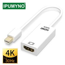 Mini Displayport na kabel HDMI 4k 1080P projektor telewizyjny projektor DP 1 4 konwerter portu wyświetlacza dla Mac Mini Apple Macbook Air Pro tanie tanio IPUMYNO Męski-żeński hdmi Cable AB010 CN (pochodzenie) Kable HDMI HDMI 1 4 Mini Displayport (Mini DP) Mężczyzna Pakiet 2
