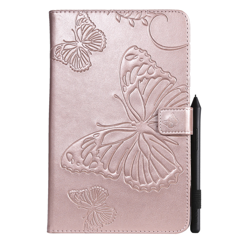 For Samsung Tab A 8.0 2018 T387 Cartoon Butterfly Leather Case For Coque Samsung Galaxy Tab A 8.0 2018 SM-T387 Cover Case