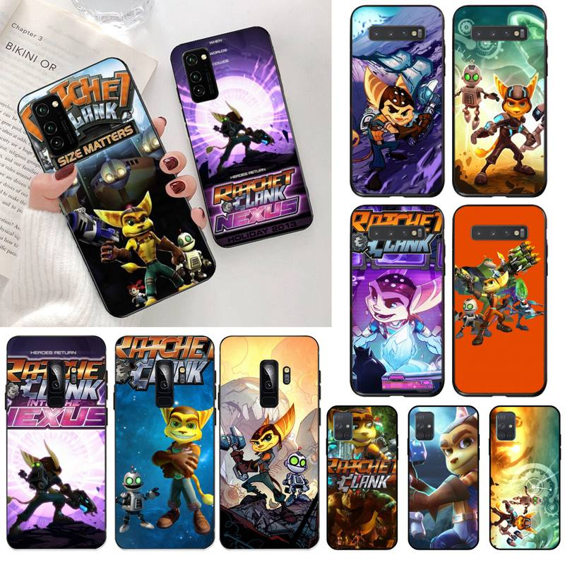 game Ratchet and Clank Phone Case for Samsung S20 plus Ultra S6 S7 edge S8 S9 plus S10 5G lite 2020 image