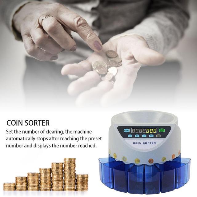 Électronique automatique Machine à Compter Les pièces Lot Comptage Monnaie Trieuse de Nouvelle Monnaie Pour LIVRES Sterling De Comptage De Pièces