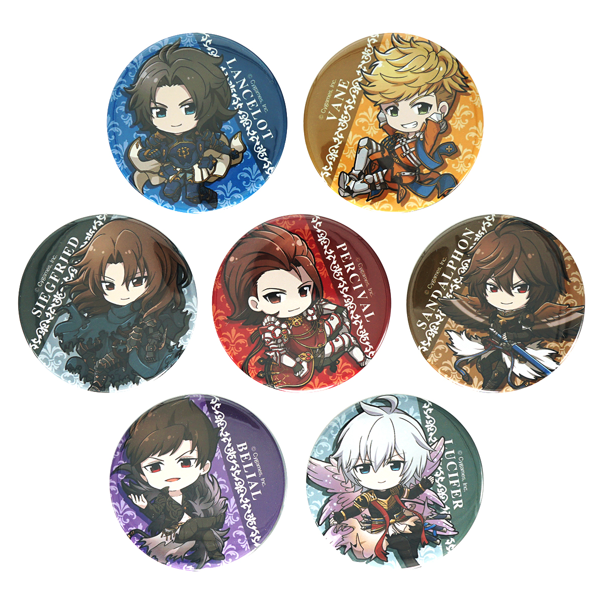 Granblue Fantasy Belial Mochikororin Animate Exclusive Character Can Badge Pin