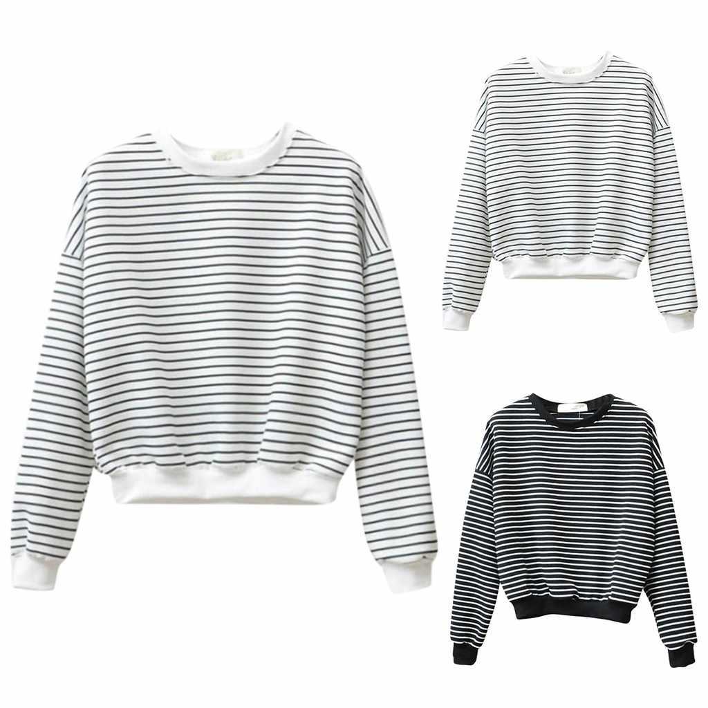 SAGACE 여성 T 셔츠 긴 소매 라운드 넥 스트 라이프 프린트 탑 가을 겨울 긴팔 여성 탑 티 심플 블랙 화이트