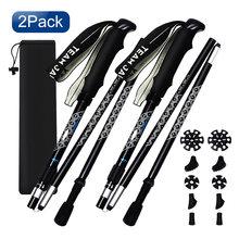 2 шт телескопические палочки для ходьбы из алюминия