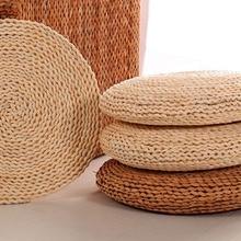 New Futon Meditation Cushion Thickening Yoga Circle Corn Husk Straw Braid Mat Japanese Style with Silk Wadding for home