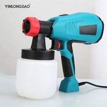 цена на 220V Handheld Spray Gun Paint Sprayers 400W High Power Home Electric Airbrush Easy Spraying