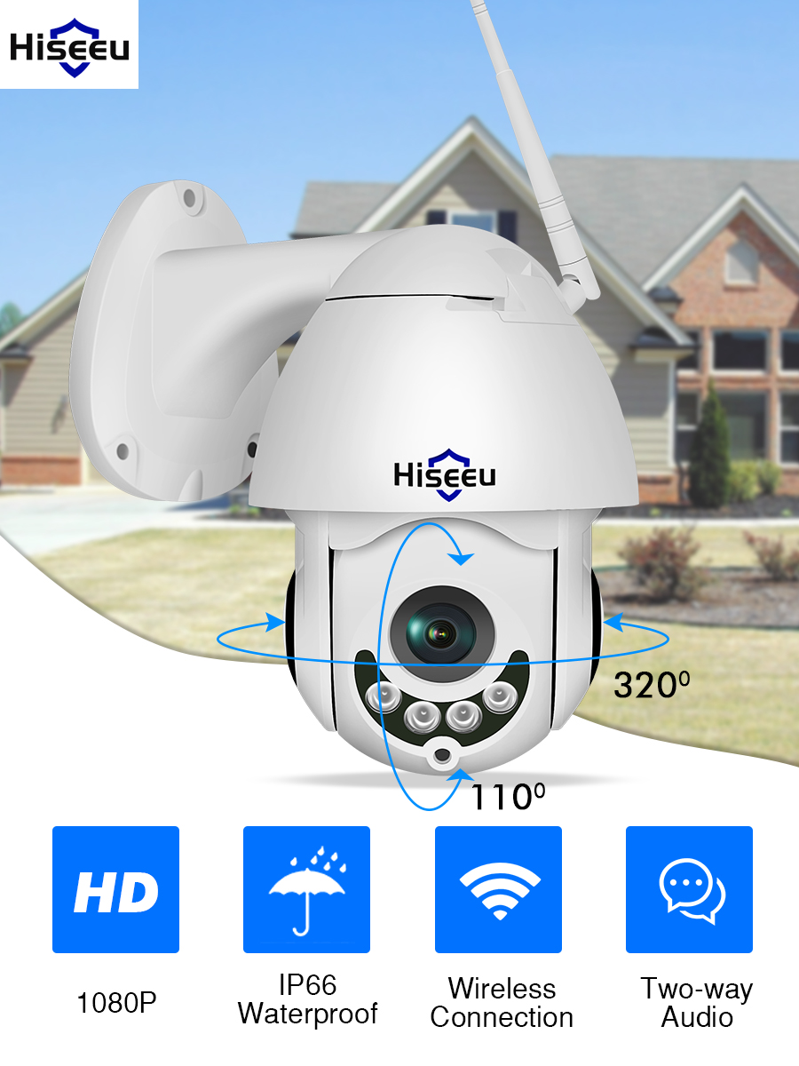 Hiseeu Ip-Camera Video-Network Speed-Dome Two-Way audio Wifi Outdoor CCTV P2P Security
