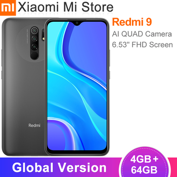 Global Version Xiaomi Redmi 9 Smartphone 4GB RAM 64GB ROM Helio G80 13MP+8MP Camera 6.53