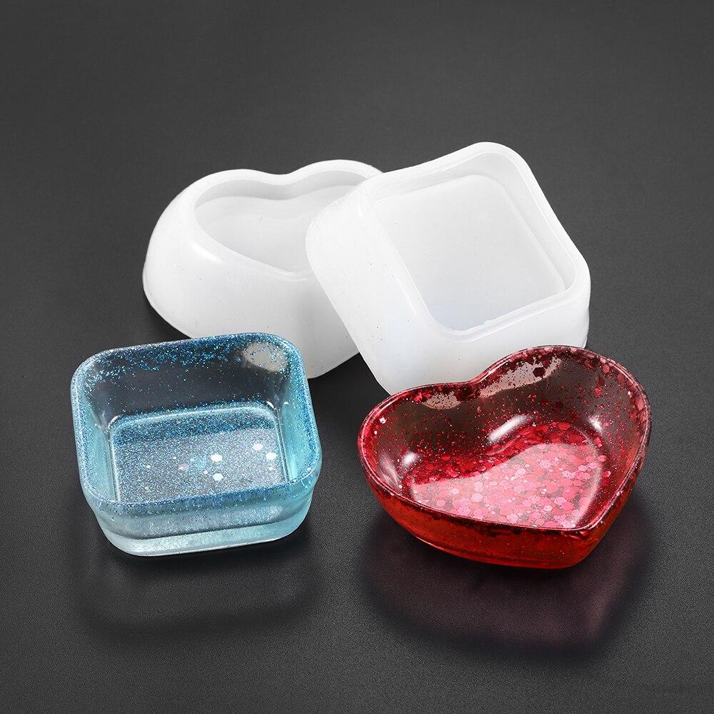 1 Uds joyas en forma de corazón, juegos de moldes de fundición epoxi, herramientas de moldes de resina epoxi UV para Diy, accesorios de fabricación de joyas, Kits de accesorios