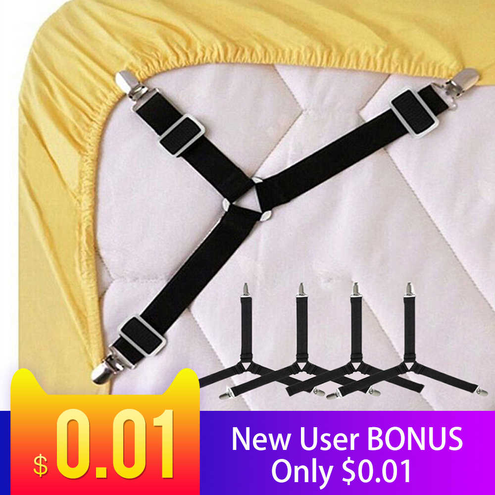 Adjustable Elastic Bed Sheet Mattress Clip Fasteners Cover Blankets Table Cloths Sofa Covers Grippers Fixing Non-Slip Strap