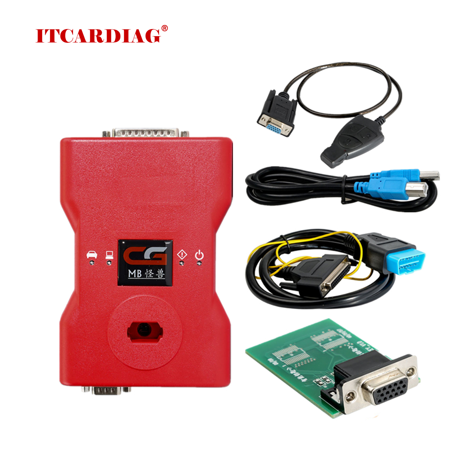 CGDI <font><b>MB</b></font> <font><b>Key</b></font> <font><b>Programmer</b></font> with AC Adapter Work with Mercedes Benz W164 W204 W221 W209 W246 W251 W166 for Data Acquisition via OBD image
