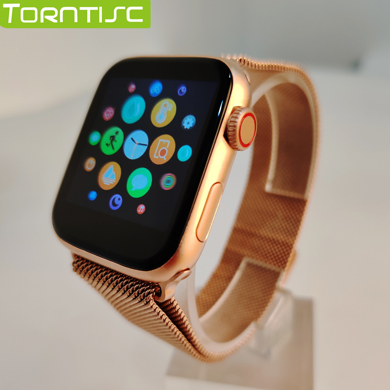Torntisc Metal Case 44mm Strap Full Touch IWO Smart Watch Women For Apple Watch Series 5 Android Phone PK P80 Smartwatch Men
