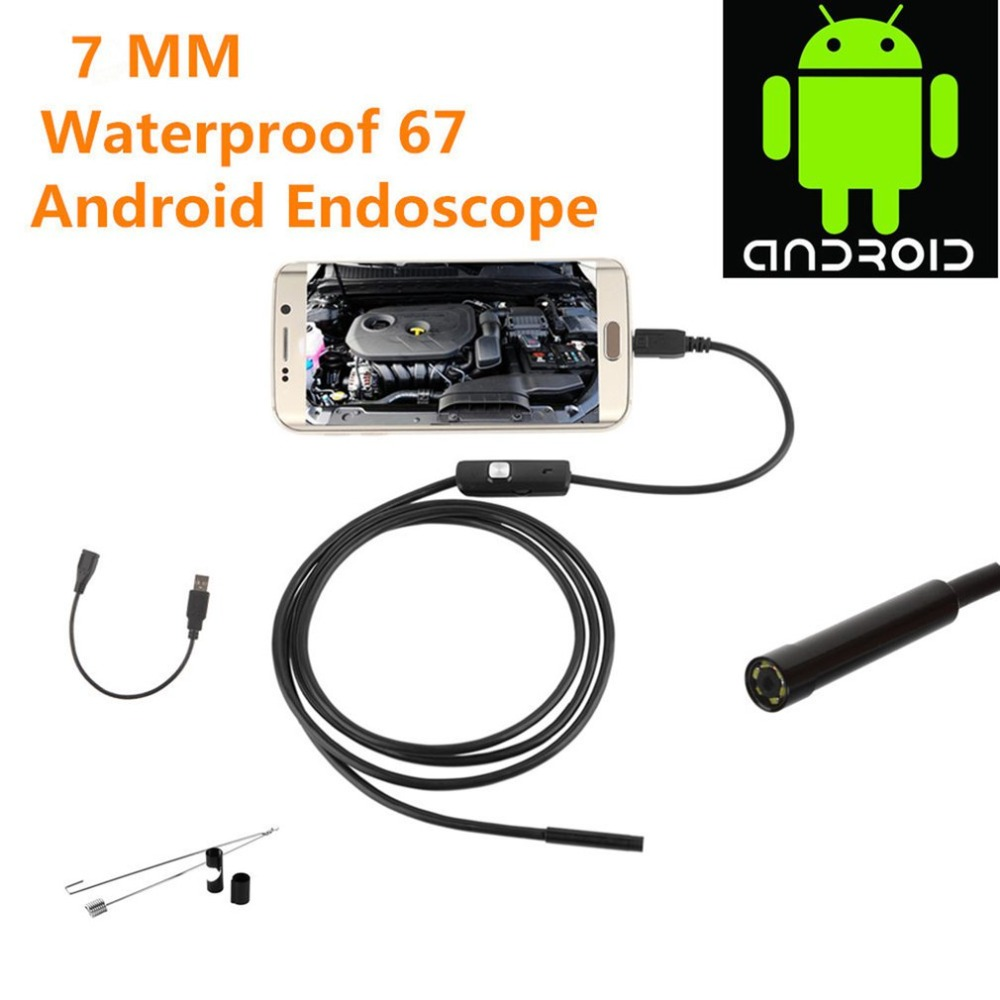 New 1.5m For Android IPhone 7MM Endoscope Waterproof Borescope Inspection Camera 8 LED A Long Effective Focal Length DFDF