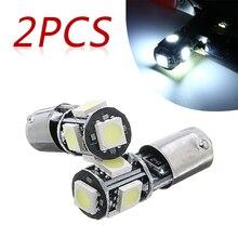 2Pcs 12V 6000K Wit H6W 434 Bax9s Canbus 5SMD Led Parking Side Indicator Gloeilamp Dag-time Running Lamp